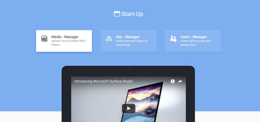 StartUp Specialty Web Page