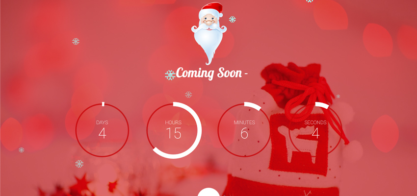 Christmas Special Santago – Coming Soon template